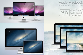 50+ Best free PSD Macbook Pro & Air and iMac mockup templates!