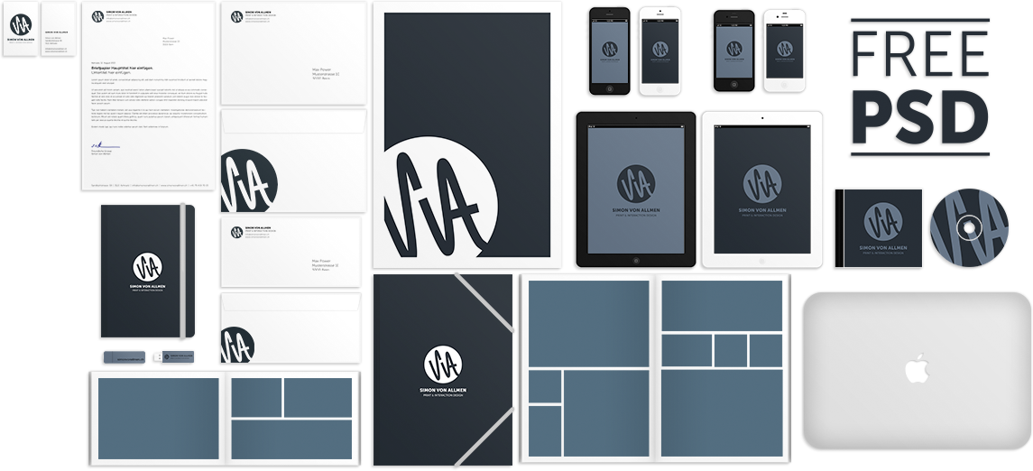 30+ Free PSD Branding Identity MockUps for designers and creators ...