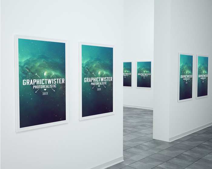 50 beautiful stylish free psd frameposter mockups for museum poster frame mockup pronofoot35fo Choice Image