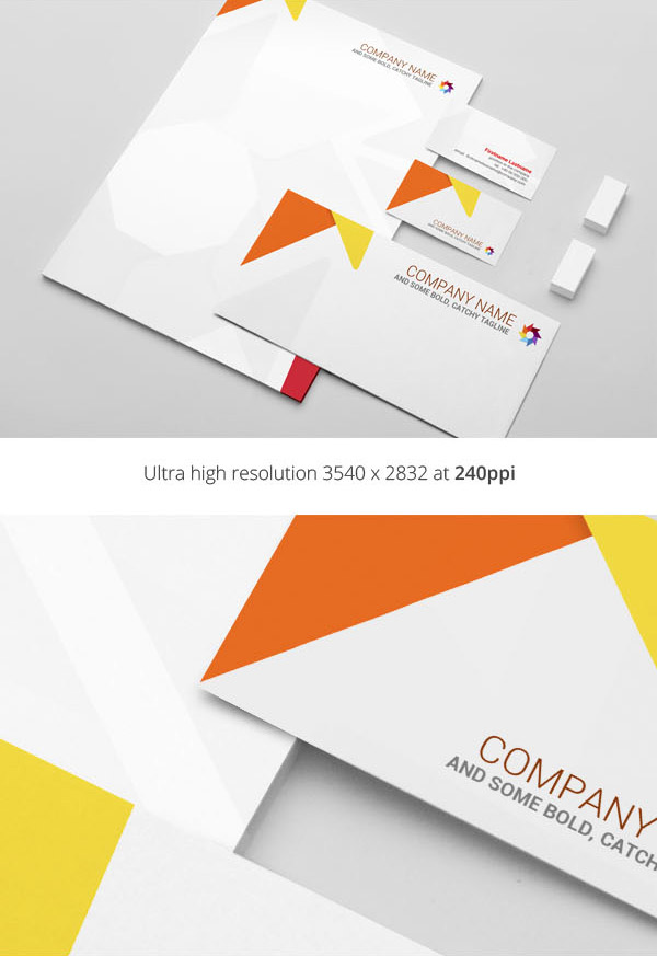 Free Stationery MockUp PSD Template