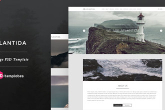 Free Creative One Page PSD Template – Atlantida