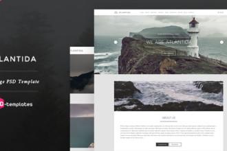 Free Creative One Page PSD Template – Atlantida