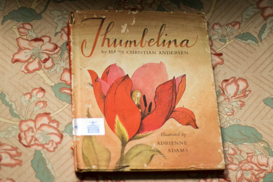 public-domain-images-free-stock-photos-vintage-book-childrens-thumbelina-illustrations-floral-1