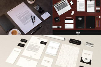 30+ Recognizable Free PSD Stationery MockUps!