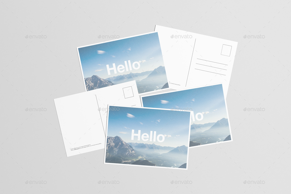 Free Postcard Mockups in PSD – Free Postcard Template Download