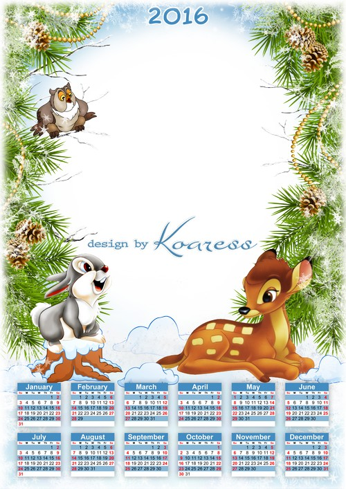 1448612845_2016-baby-calendar-template-with-photo-frame-psd-new-year-with-cartoon-animals-1