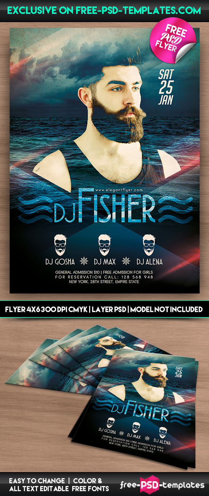 dj fisher psd flyer template psd templates preview dj fisher