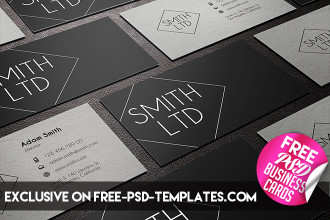 5 Free PSD Business Card Templates