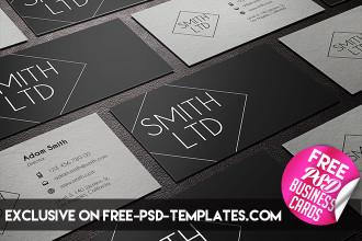 5 Free PSD Business Card Templates