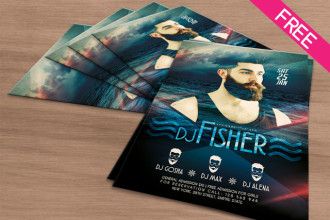 DJ Fisher – Free PSD Flyer Template