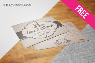 5 Free Postcard Mock-ups in PSD
