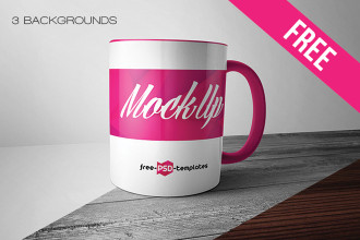 Free Mug Mock-up in PSD
