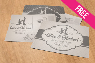 Wedding – Free PSD Postcard Template in PSD