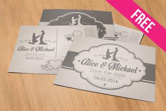 Wedding – Free PSD Postcard Template in PSD
