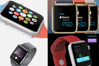 15 Free PSD Apple Watch Templates for designer and developers!