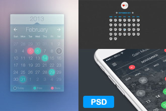 25+ Free PSD Calendar Templates for making beautiful design!