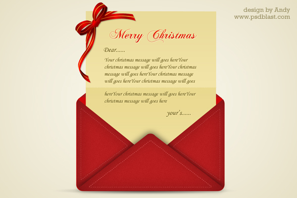 30 Christmas Free PSD Holiday Card templates for design and – Christmas Card Letter Templates