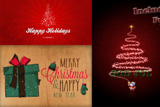 30+ Christmas Free PSD Holiday Card templates for design and congratulations!