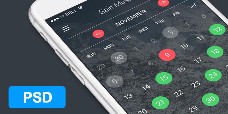 free-psd-fitness-app-calendar