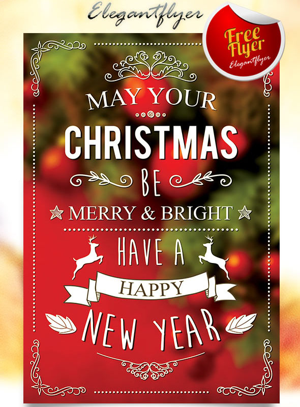 30 christmas free psd holiday card templates for design for Christmas brochure template