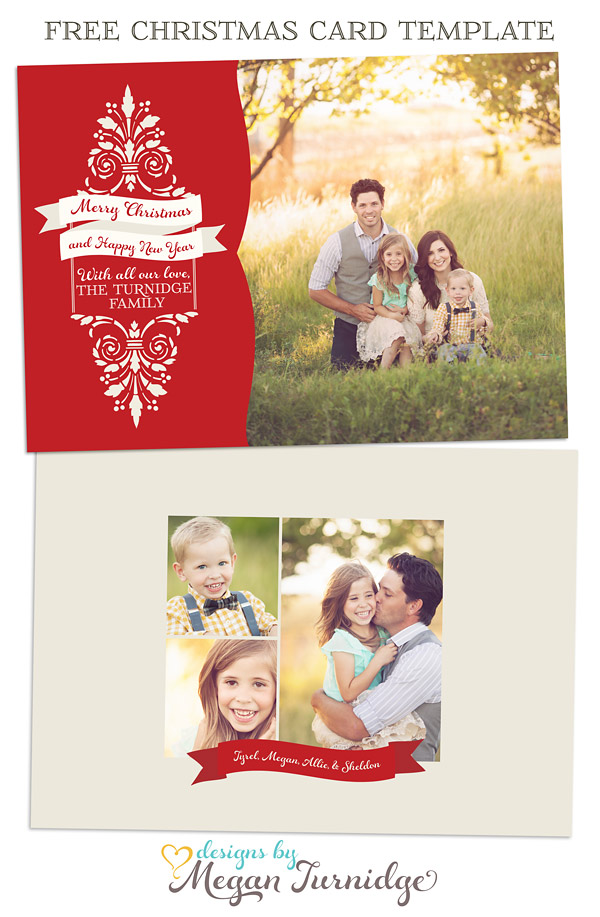 45 christmas premium free psd holiday card templates for design