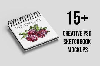 15+ Free and Premium PSD Sketchbook MockUps for creative mind!