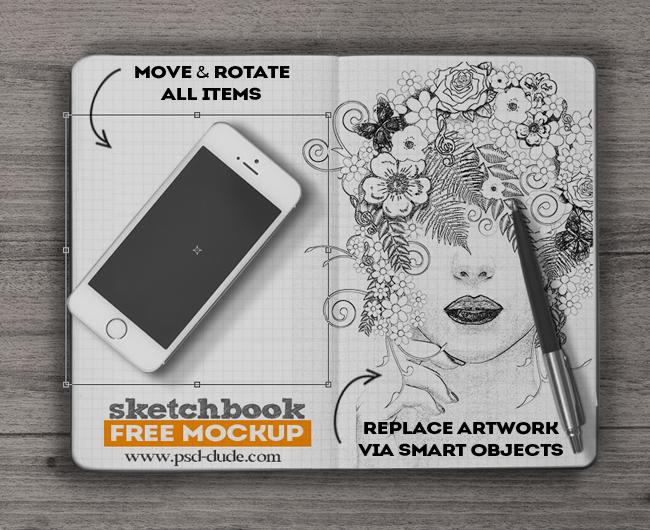 15 free psd sketchbook mockups for creative mind