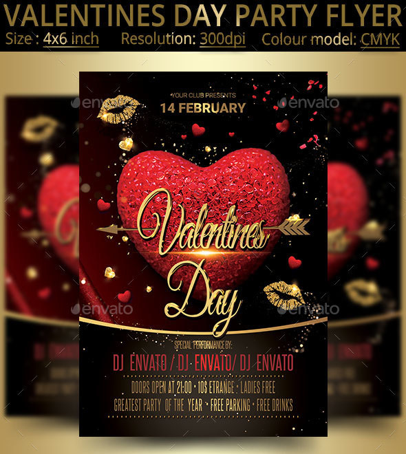 45 Premium Free Psd Flyers Elements For St Valentine S Day