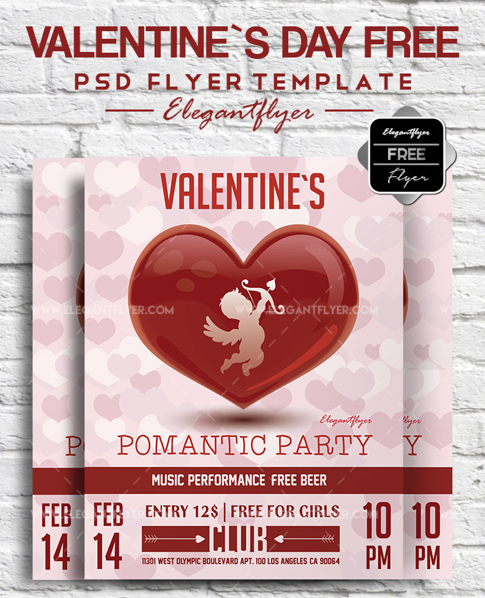 45premium Free Psd Flyers Elements For St Valentines Day