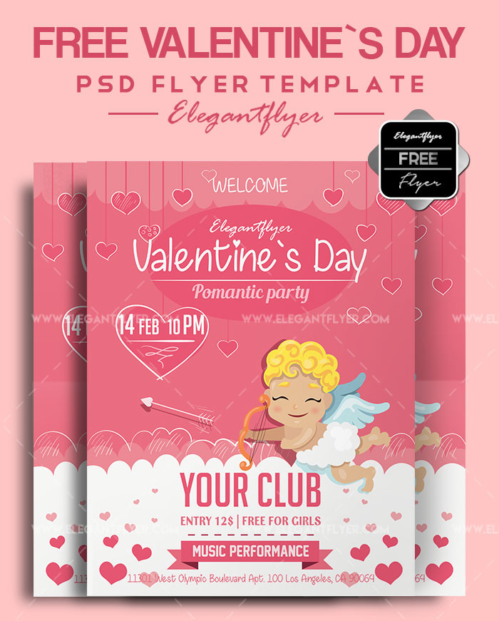 45+PREMIUM & FREE PSD FLYERS + ELEMENTS FOR ST. VALENTINE