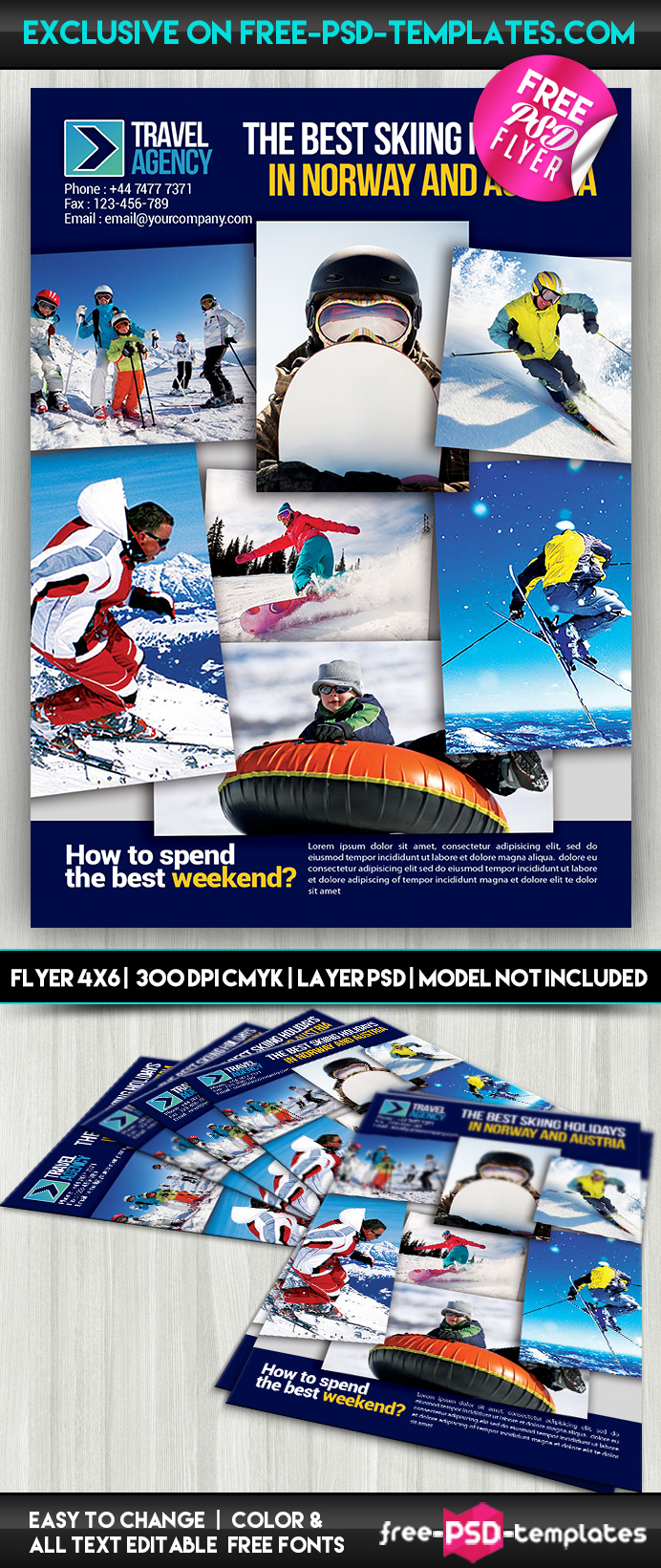 travel agency psd flyer template psd templates it was created exclusively for our website the mock up is fully layered and well organized you are to this psd mockup template and modify it