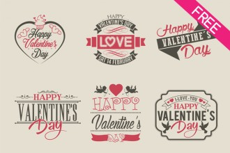 Free 9 Valentines Day Label in PSD