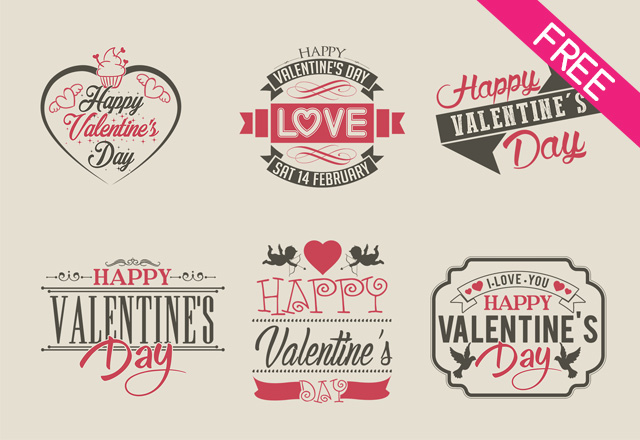 Free  Valentines Day Label  Free Psd Templates