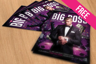 Big Boss – Free PSD Flyer Template in PSD