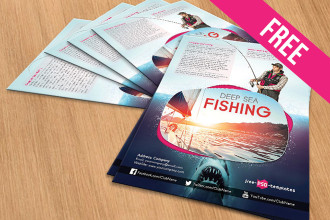 Deep Sea Fishing – Free PSD Flyer Template in PSD