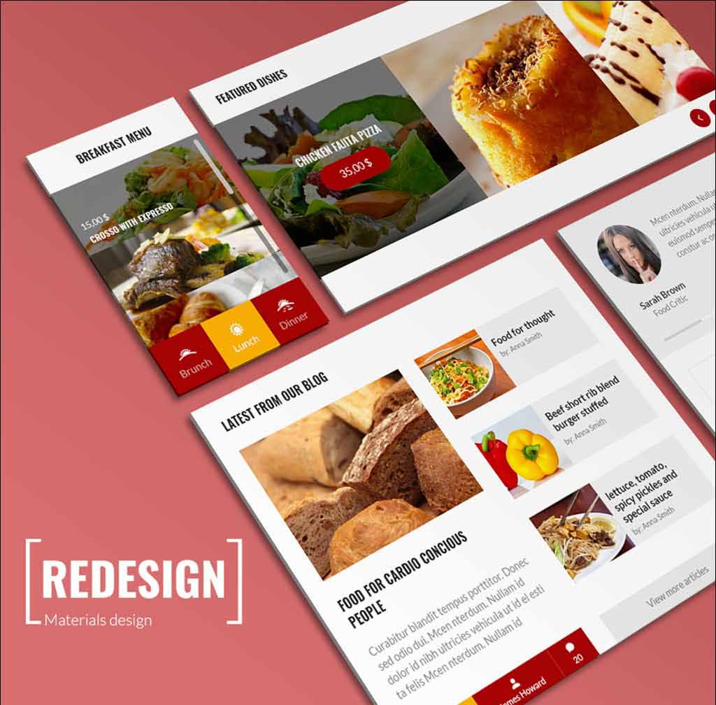 free-psd-ui-food-elements-template