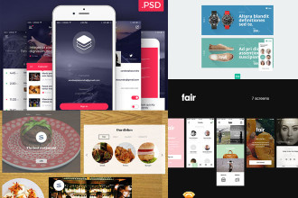 25+ The newest PSD UI Kits for work and inspiration!
