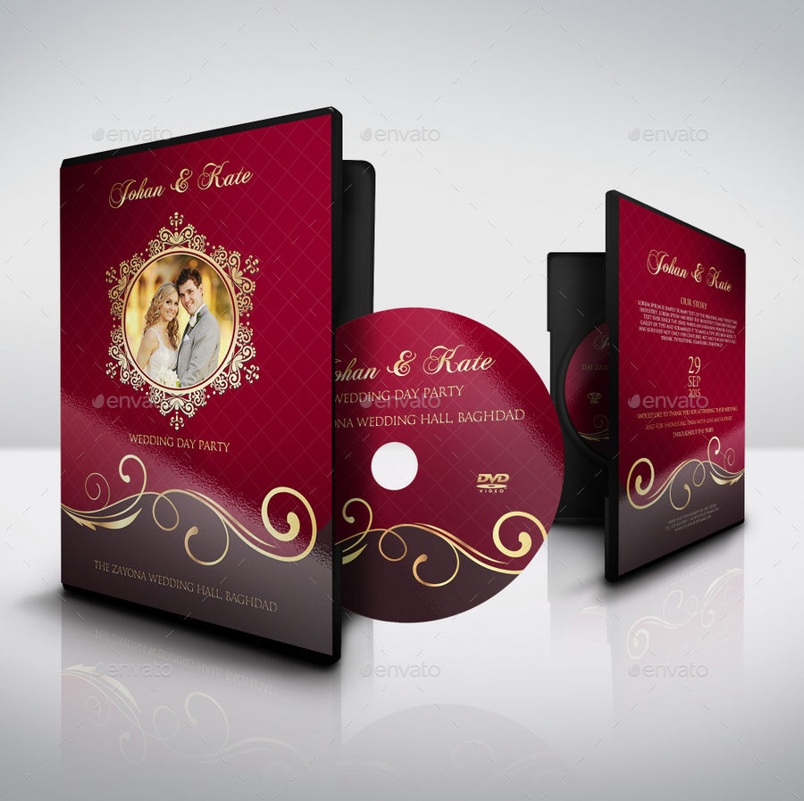 wedding cd dvd cover free psd brochure template facebook cover
