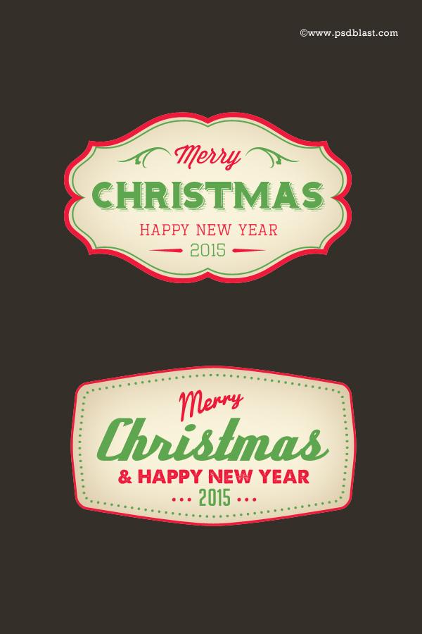 Christmas-badges