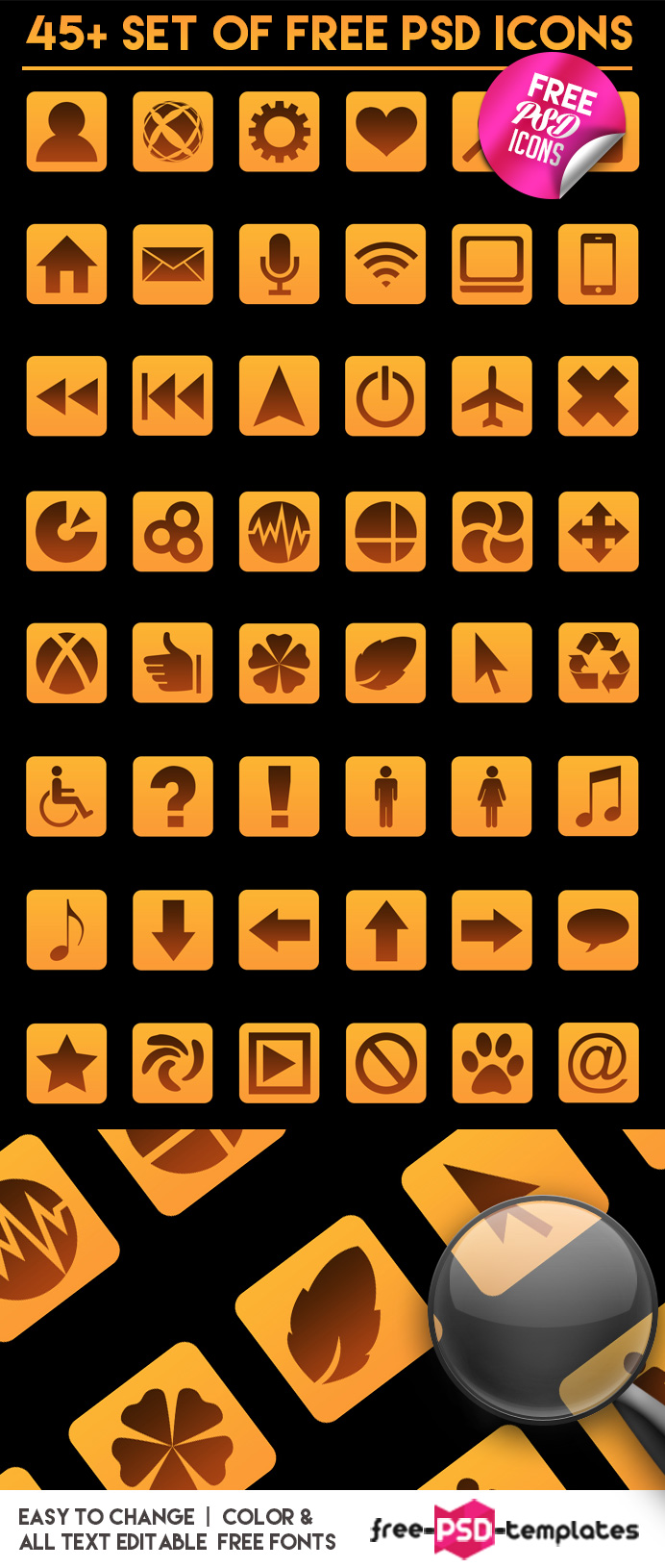 Preview_45+Set_of_Free_PSD_Icons