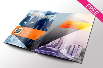 cobis free psd bi fold brochure template