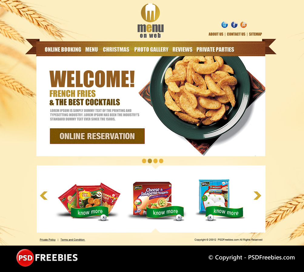 Restaurant templates suitable for professional business