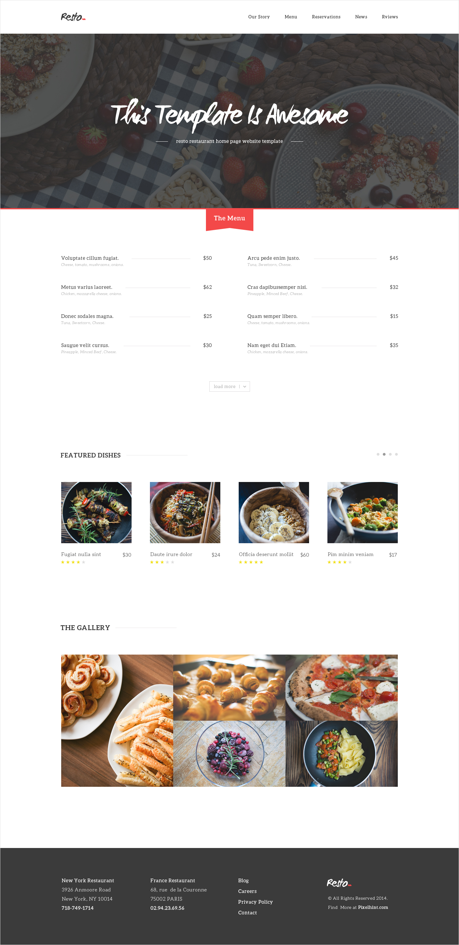 40 Restaurant templates suitable for professional business! | Free ...