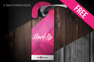 Free Door Hanger Mock-up in PSD
