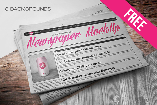 Free Newspaper Mock Up In Psd Free Psd Templates