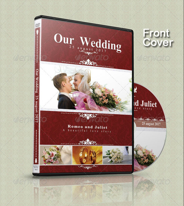 Wedding CD/DVD Cover – Free PSD Brochure Template + Facebook Cover ...