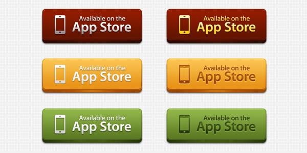 app-store-buttons-psd