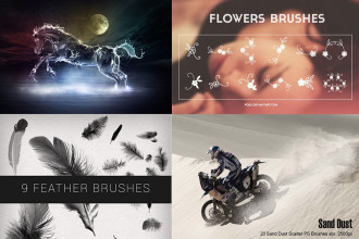 400+ Professional Photoshop Brushes for designers!