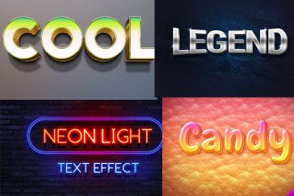 30+ Wonderful Text effects for professional work!