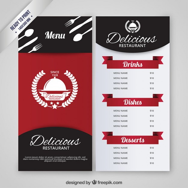 60 free premium restaurant templates suitable for professional restaurant menu template free vector reheart Image collections